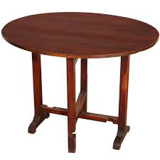 Cherry Wood Coffee Tables For Sale French Oval Cherry Folding Tilt Top Side Table Late 19th Or 20th