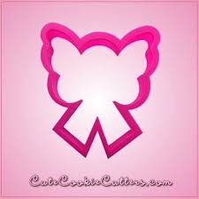 pink butterfly winged cancer ribbon cookie cutter cheap cookie