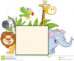jungle clipart happy animal pencil and in color jungle clipart
