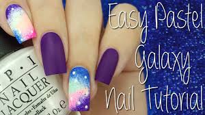 easy pastel galaxy nail tutorial youtube