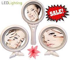 Free Standing Makeup Vanity Amazon Com Free Standing Makeup Mirror U0026 Hand Mirror Led Lighted