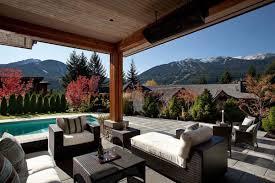 outdoor living room with tv marble floor area brown wooden floor
