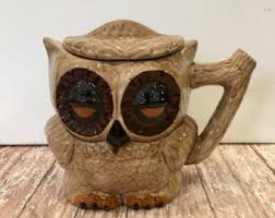 owl pitcher etsy
