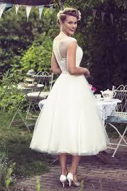 tea length wedding dresses uk gracie tea calf length 1950s wedding dress by brighton