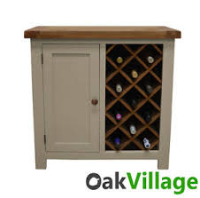 walcot painted oak wine rack with storage drinks cabinet wine