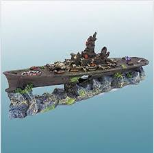 aquarium decoration sunken battleship ornament fish tank boat