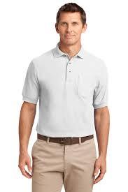 port authority men u0027s silk touch polo w pocket k500p