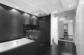 black and white bathroom ideas iron wall light with white shade