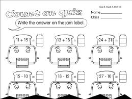 toast quiz a year 2 addition worksheet