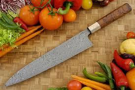 chef u0027s knife gyuto 10 3 4 in with chevron damascus mokume