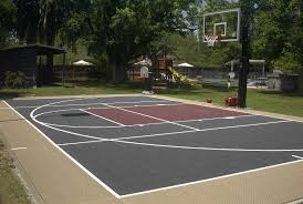 Backyard Basketball Court Backyard Basketball Court To Help With Your Kids Hobbies