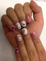 50 hello kitty nail designs hello kitty nails kitty nails and