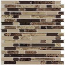 shop peel u0026stick mosaics peel and stick 4 pack rockbridge linear