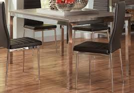 coaster eldridge dining table weathered grey chrome 121121 at