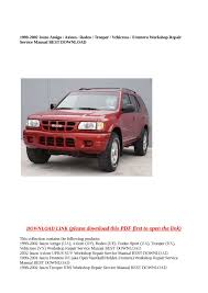 100 2001 isuzu rodeo workshop manual 2001 daewoo nubira