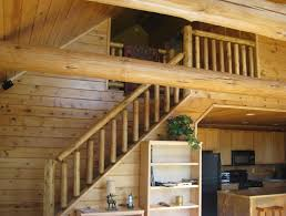 log railings and log stairs