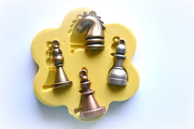 0810 chess set pieces silicone rubber flexible food safe