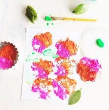make flower print process art prints u2014 kidartlit