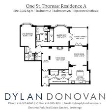 one st thomas floor plans luxury toronto condos