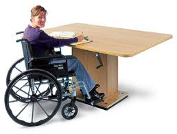 hausmann hand therapy table crank hydraulic work table