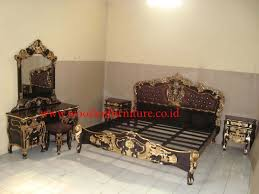 French Style Rococo Bedroom Set Antique Reproduction Upholstered - French home furniture