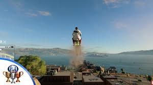 watch dogs 2 jump around trophy 140 meter jump in a vehicle