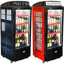 glass door bar fridge phone box england and tartus themed commercial upright glass door