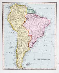 Maps Of South America Map Of South America 1825