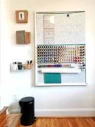Sewing Room Decor Ideas Effective Pegboard Craft And Sewing Room Organization