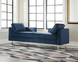 donny osmond home decor 550356 double chaise in navy fabric by donny osmond
