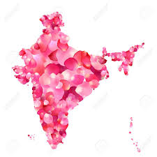 Map Rose India Silhouette Of Indian Peninsula Map Of Rose Petals Royalty