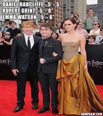 Daniel Radcliffe Meme - harry potter daniel radcliffe rupert grint emma watson