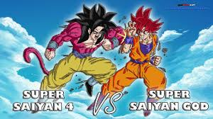 super saiyan god vs super saiyan 4 goku road to dragon ball