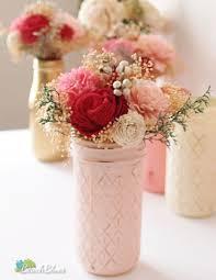 Mason Jar Vases Wedding 47 Best Rustic Wedding Images On Pinterest Painted Mason Jars