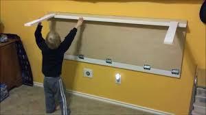Custom Desk Plans Lego Table Folds Against The Wall Youtube Regarding Wall Mounted
