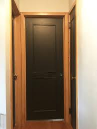 Interior Door Makeover Painting Interior Doors Black Adding New Hardware