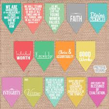 printable believe banner lds young women values theme printable paper banner instant