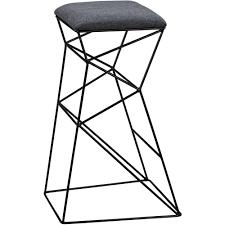 sterling industries 3200 078 kaspar bar stool in grey linen w