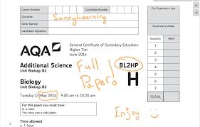 gcse aqa unit 2 biology bl2hp june 2014 full paper youtube