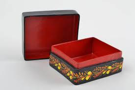 paper mache home decor madeheart u003e papier mache jewelry box handmade painted box for