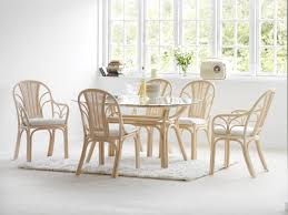 rattan kitchen furniture marli vintage rattan cafe kitchen dining chairs with cushion black