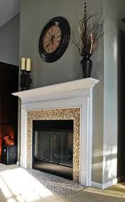 Porcelain Tile Fireplace Ideas by Marble Tile Fireplace If Brick Doesn U0027t Go All The Way To Ceiling