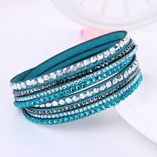 leather crystal bracelet images New leather bracelet rhinestone crystal lucky me stuff jpg