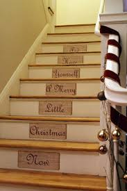 Handrail Christmas Decorations Interior Christmas Staircase Decoration Come With Straight With