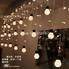 5cm big size 10 ball 1 5 0 5m led curtain string black wire led