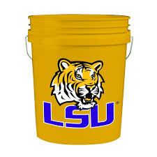 lsu 5 gal college bucket 2841412 the home depot
