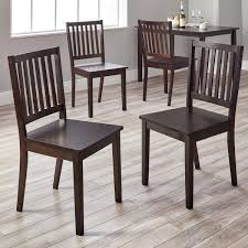Dining Chair Set Of 4 Simple Living Slat Espresso Rubberwood Dining Chairs Set Of 4