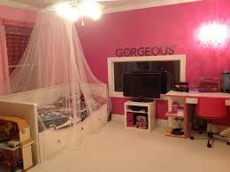 daughter u0027s barbie monster high playroom daybed tv stand desk