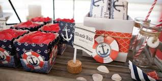 Red Baby Shower Themes For Boys - ahoy nautical baby shower decorations u0026 theme babyshowerstuff com