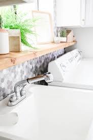 Peel And Stick Backsplash Ireland Laundry Room Tile Makeover With Smart Tiles The Home Depot Blog
